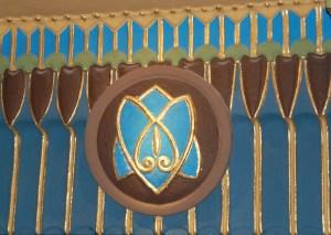 Davidstern im ägyptisch-assyrischen Jugendstil in der Vorhalle