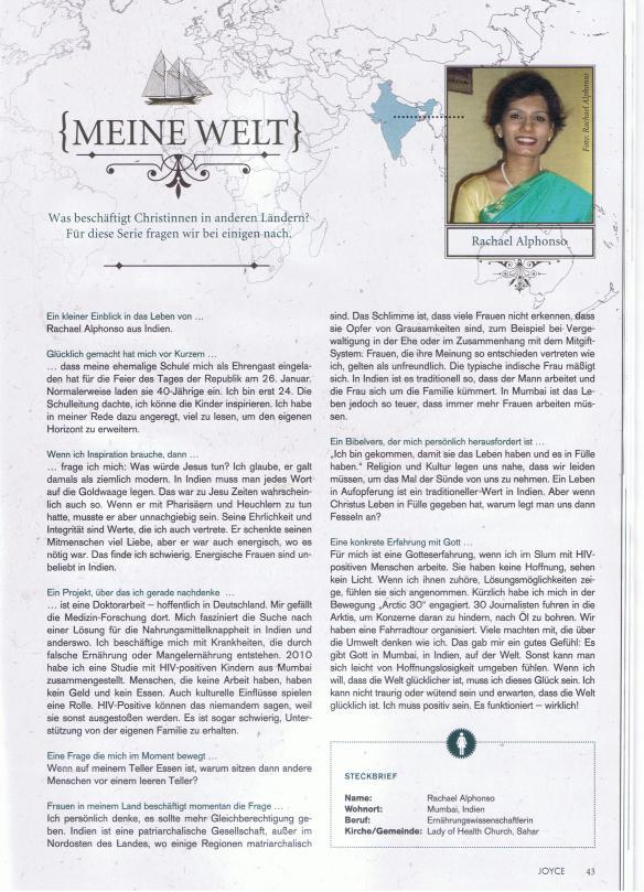 Interview Rachael Alphonso_JOYCE August 2014