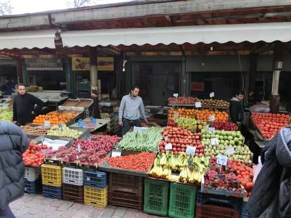 Der Athener Obst- und Gemüsemarkt - dort trifft man hauptsächlich Einheimische