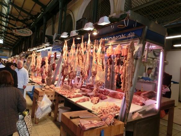 Auf dem Athener Fleischmarkt