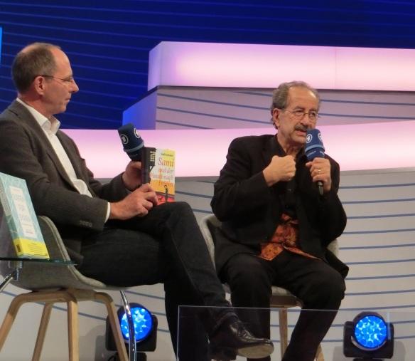HR-Moderator Thomas Ranft und Rafik Schami sprechen über Suppen für Syrien