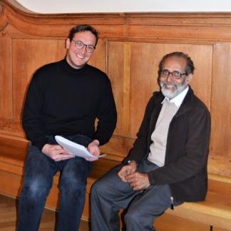 Steffen Jahn, missio-Referent im Bistum Fulda, und Pater Dr. Sebastian Painadath